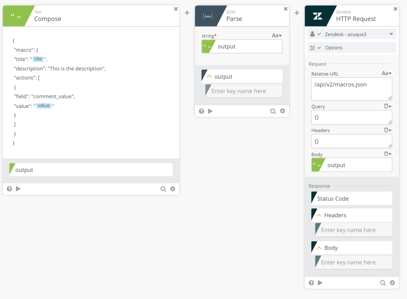 Creating a Custom API Call – Azuqua Support Center